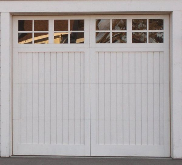 Potential garage doors farmhouse garden pinterest for Farmhouse garage doors