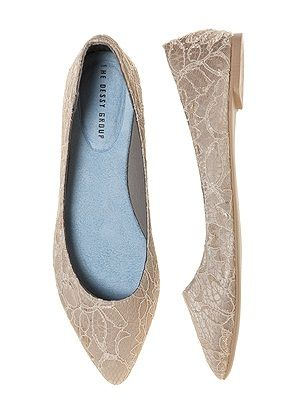 Lace Bridal Ballet Flat http://www.dessy.com/accessories/lace-bridal-ballet-flat/