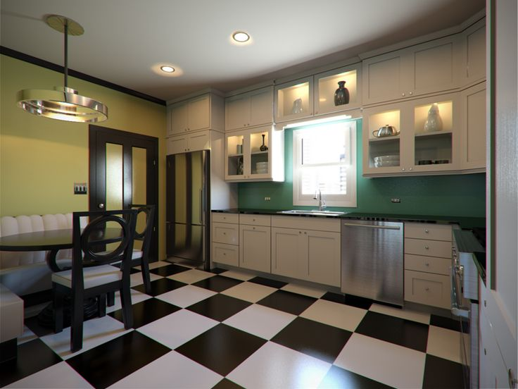 art deco kitchen future home ideas pinterest