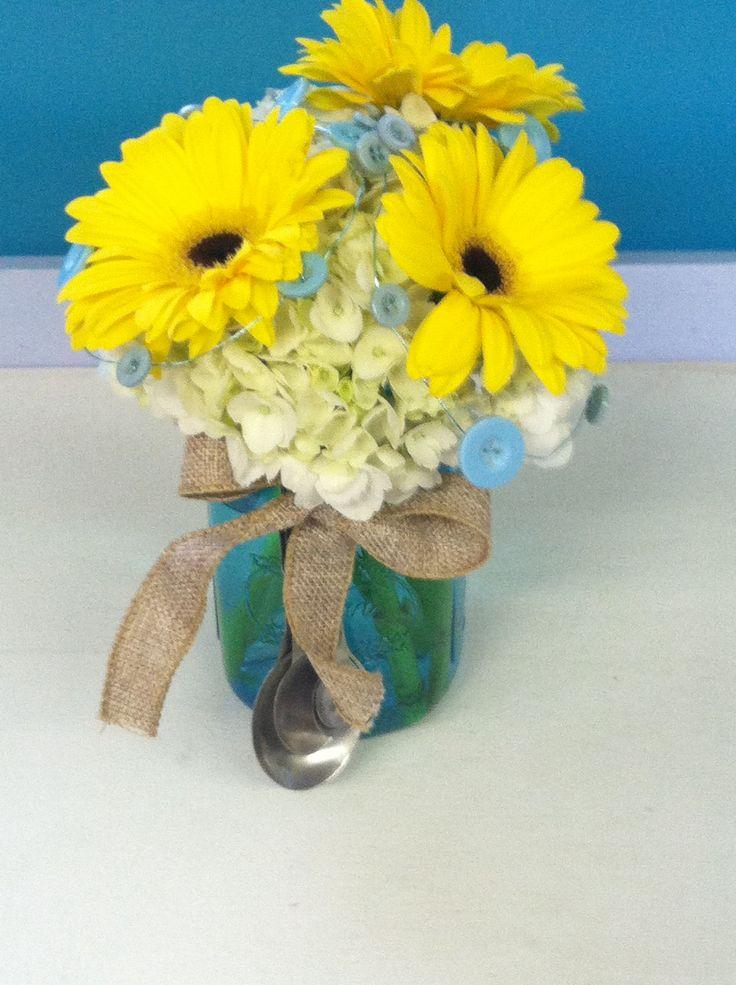 Mason Jar Floral Arrangement Design Ideas Pinterest