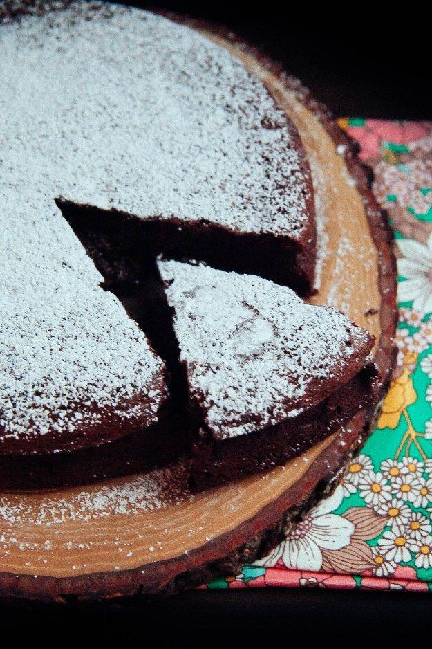 Flourless Chocolate Prune & Brandy Cake / The Baking Bird