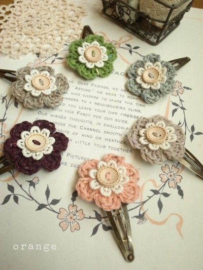 Crochet Hair Accessories : crochet flower hair accessories diy / a&c Pinterest