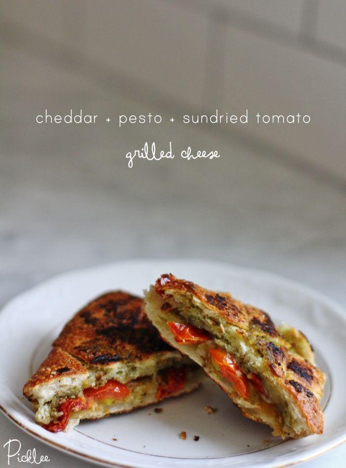 Sundried Tomato Pesto Grilled Cheese Sandwich Recipe — Dishmaps