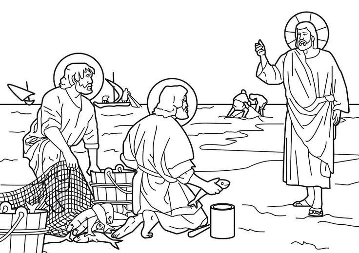 desciples of jesus coloring pages - photo#25