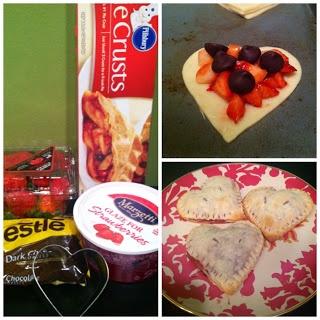 Strawberry Dark Chocolate Hand Pies | Valentine foodies | Pinterest