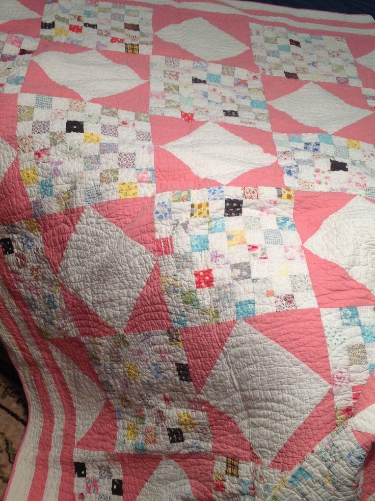 Old Quilt Fibers Amp Fabric Pinterest