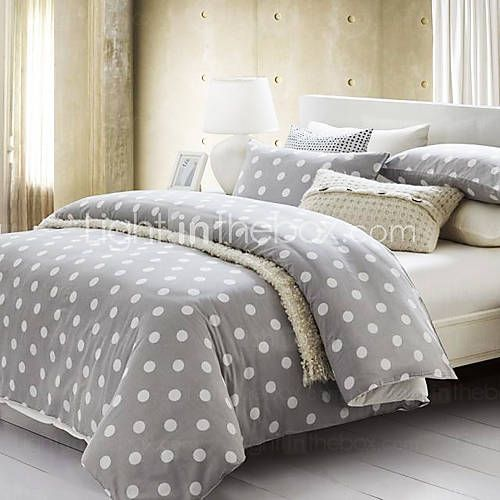 With elegant circle pattern, the % cotton sateen with soft finish duvet cover is.