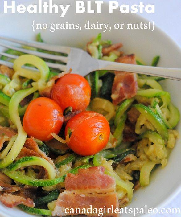 for BLT paleo pasta. Use zucchini to make an amazing paleo pasta ...