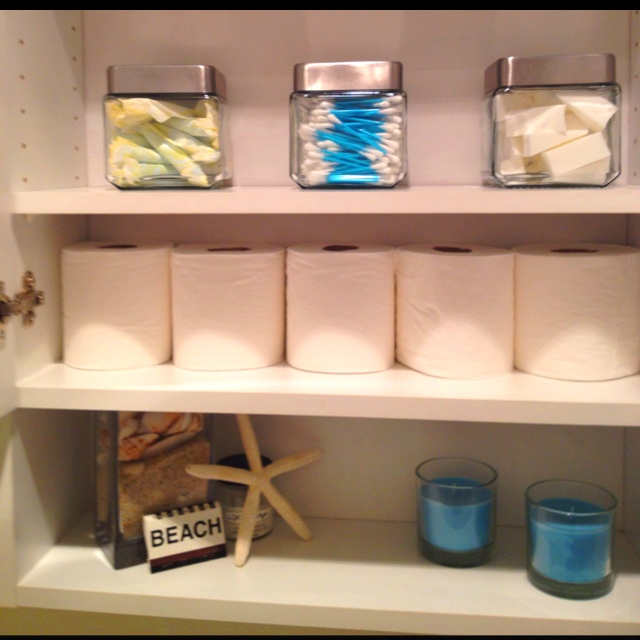 Bathroom organization good ideas pinterest for Bathroom organization ideas