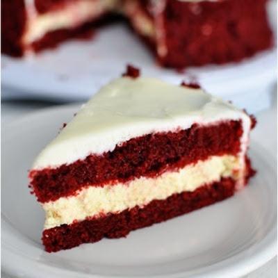 Red Velvet Cheesecake Cake | Bubba Bakes | Pinterest
