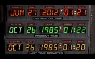 Remember that Back To The Future scene where the DeLorean is set to a future date? Despite what you've seen on Facebook,  it's not today.