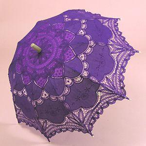 Purple lace parasol