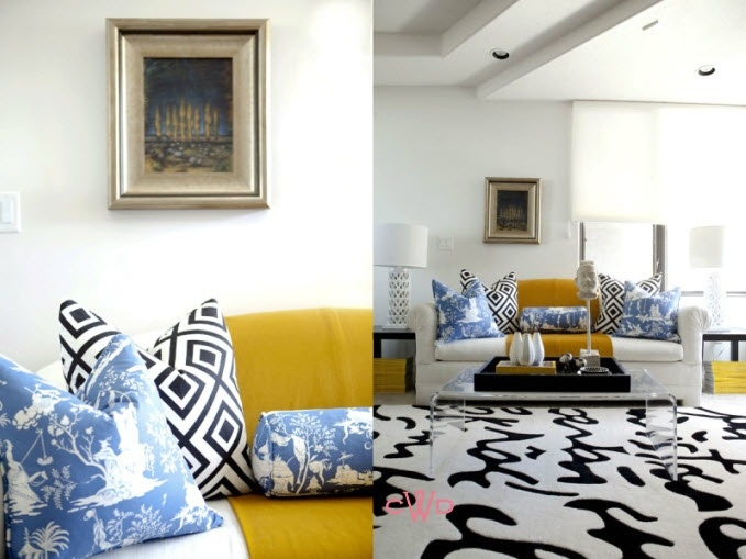 Yellow and blue pretty room living room pinterest - Blue and yellow living room ...