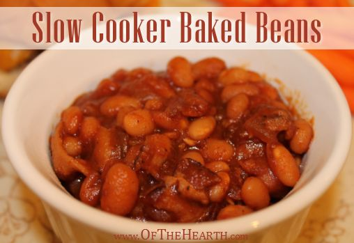 Slow Cooker Baked Beans - sounds SO yummy, complete with cooking your ...