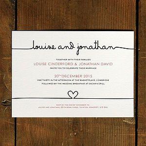 Invitation | Simple - Scribble Wedding Invitation Stationery