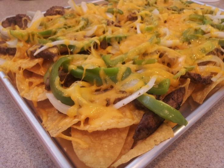 Dishin' It Out: Beef Fajita Nachos | appitizers | Pinterest