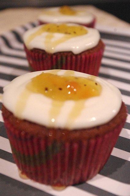 Greek Yogurt and Honey Cupcakes by kellylovescupcakes, via Flickr