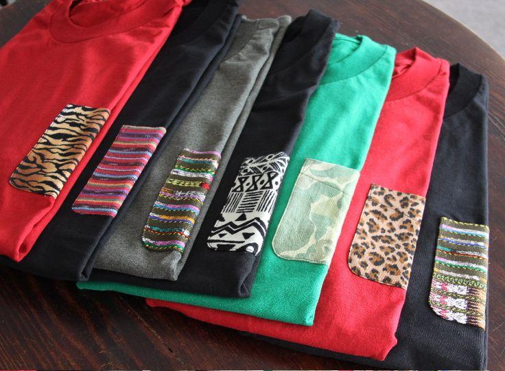 Cute DIY pocket tees. I want them allllllll.