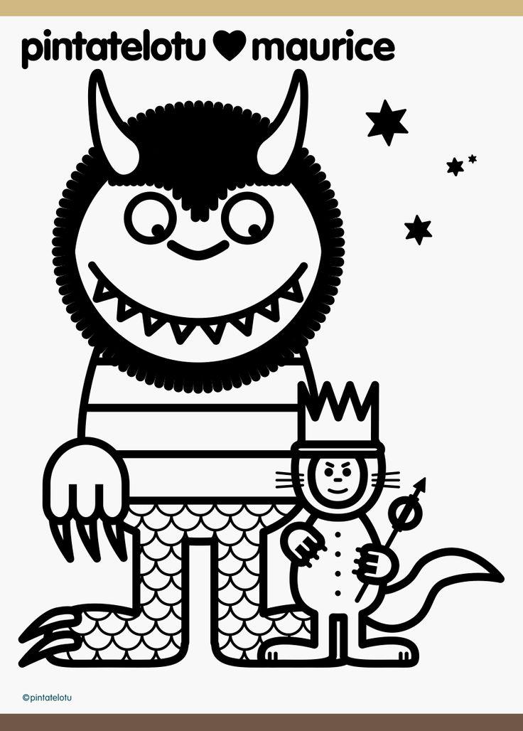 pintatelotu lots of fun printables Wild Things Pinterest