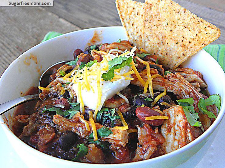 Low Fat Crock Pot Chicken Taco Chili | Recipe