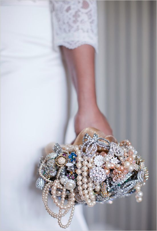 """brooch bouquet with pearls   """"#Ruffled for #TheLab2013: http://ruffledblog.com/the-lab-event-giveaway"""""""