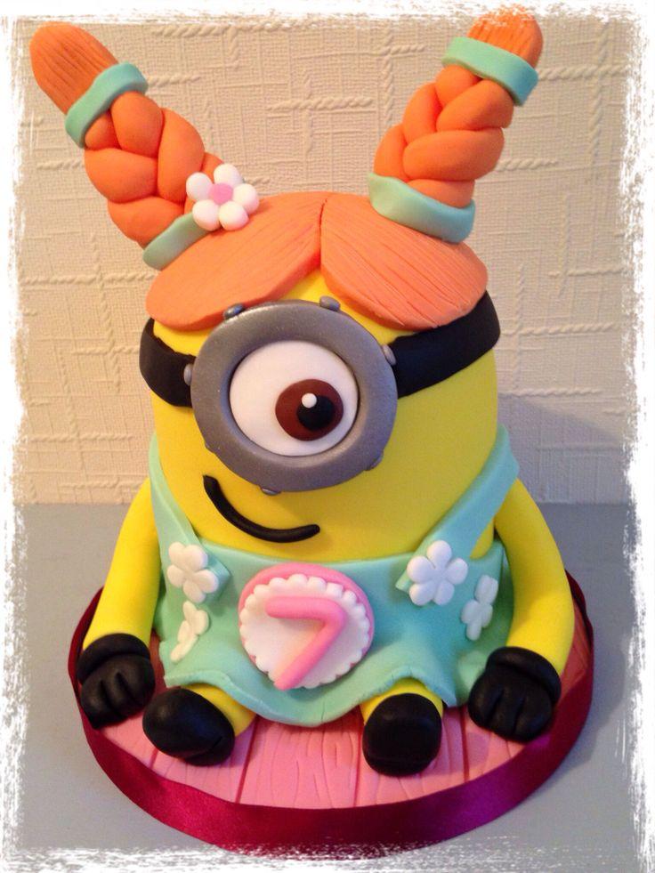 Girl minion cake cakes Pinterest