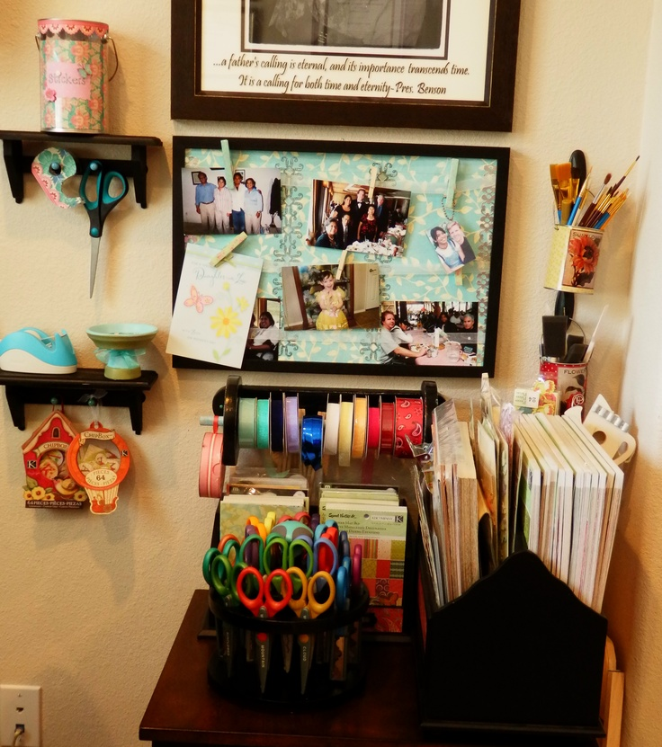 Organization for a Small Space.Since I can't have my own Craft Room