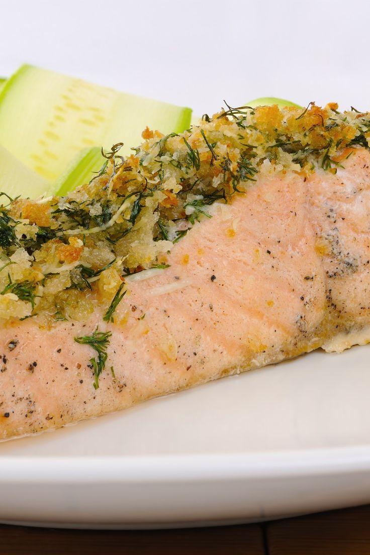 Alaska Salmon Bake with Pecan Crunch Coating Recipe