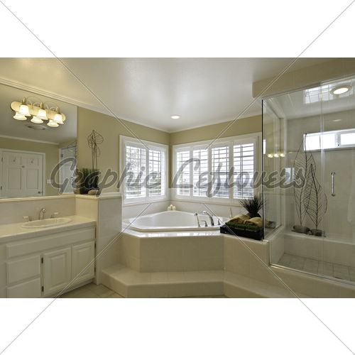 Bathroom with corner tub google search bathroom for Master bathroom with corner tub