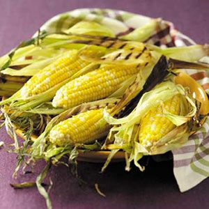 Grilled Garlic-Butter Parmesan Corn recipe from Taste of Home