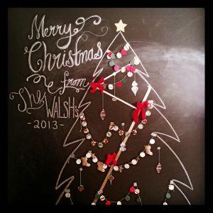 Chalkboard Christmas Tree   jingle bells   Pinterest