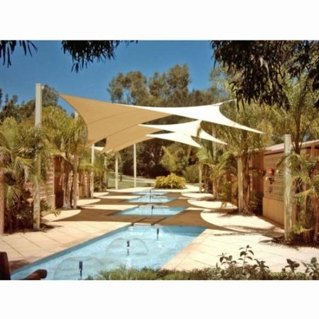 sun shade sail for backyard pool for the home pinterest. Black Bedroom Furniture Sets. Home Design Ideas