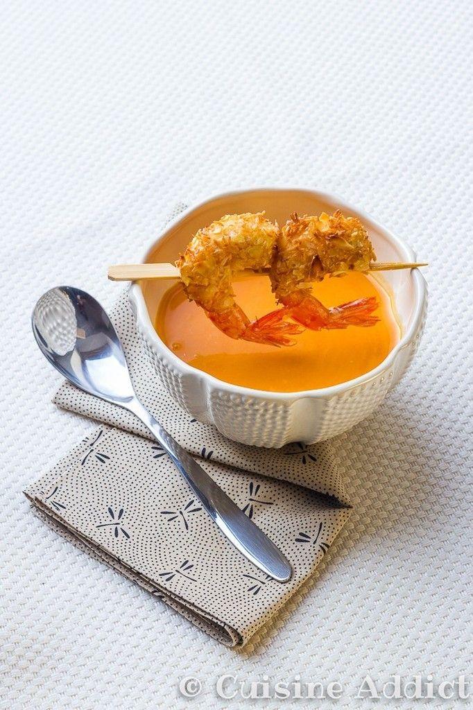 Creamy Thaï Squash Soup Coconut Milk, Kaffir Lime & Ginger