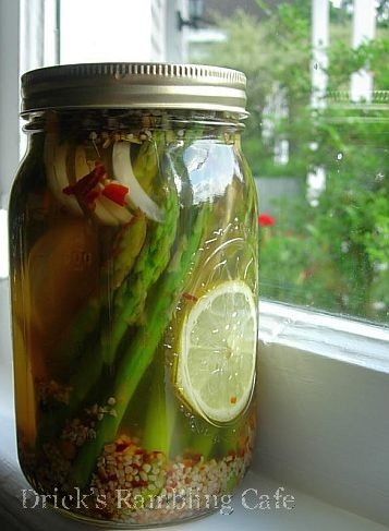 Drick's Rambling Cafe: Pickled Asparagus Recipe - Canning made easy