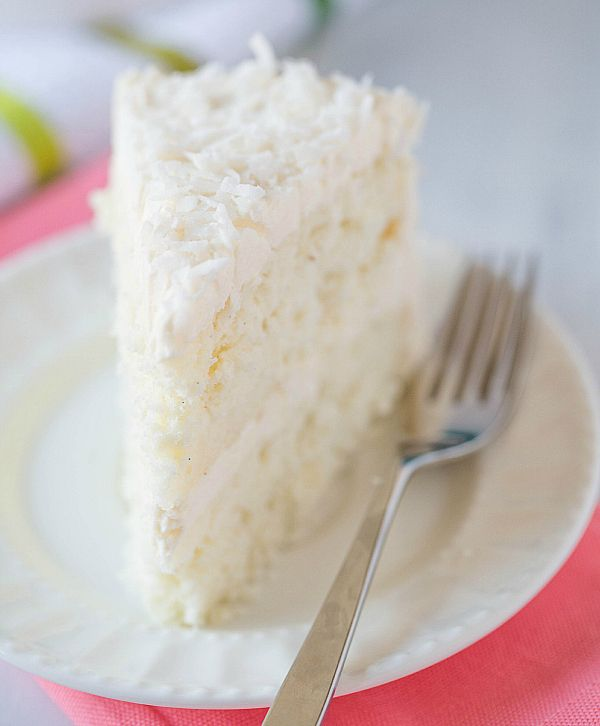 Coconut-Vanilla Bean Cake with Coconut Meringue Buttercream Frosting ...