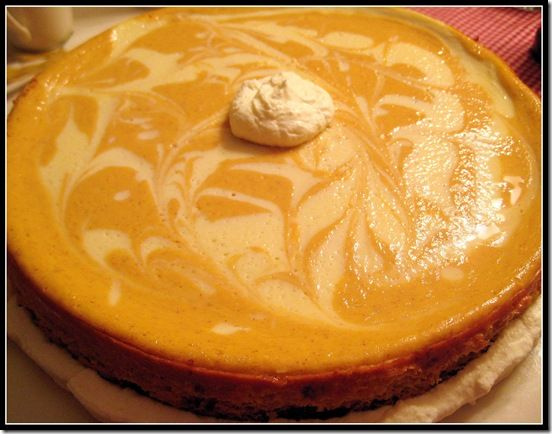 Pumpkin Cheesecake Swirl I am not very good at baking, but this came ...
