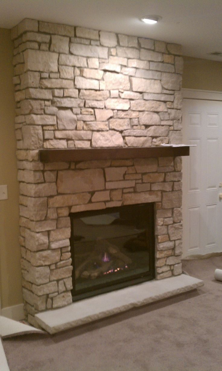 flagstone fireplace with insert fireplaces pinterest