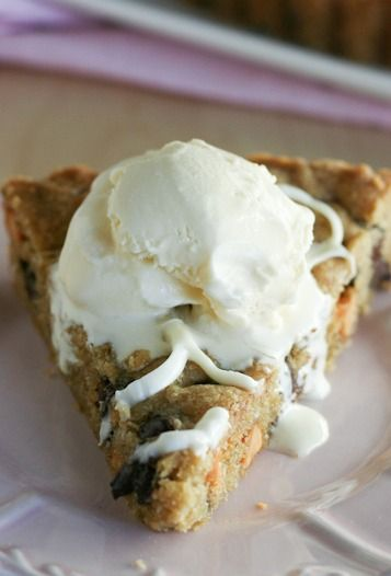 Chocolate Chip Cookie Tart | Cookies | Pinterest