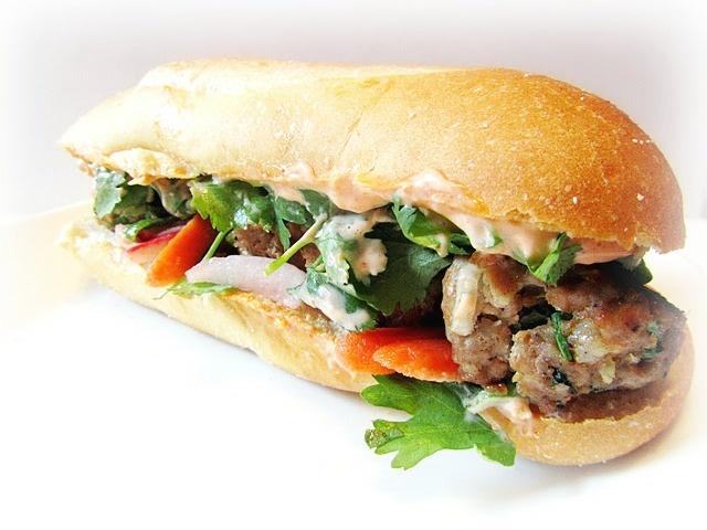Pork Meatball Banh Mi Sandwich...Yum! | Yummm!!!!! | Pinterest