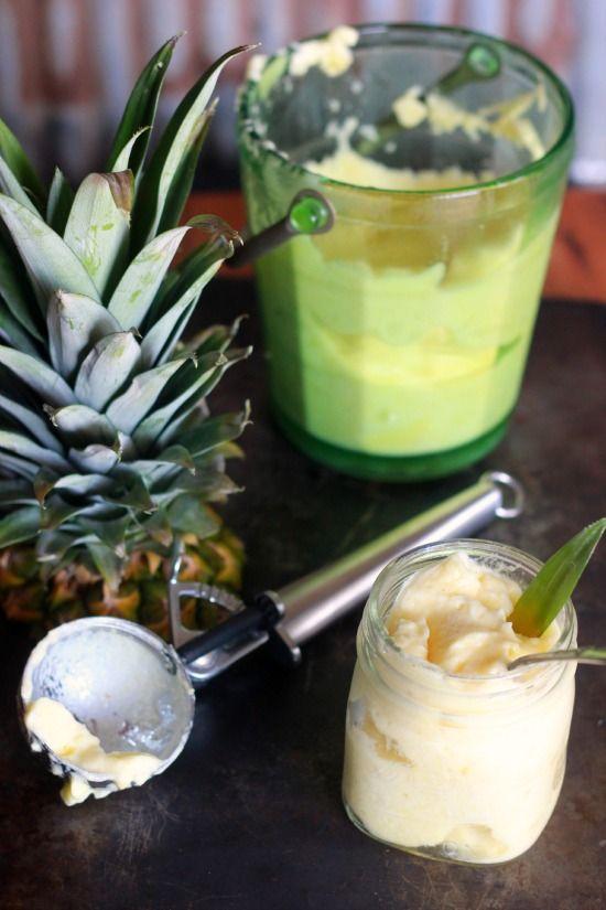 Fresh Pineapple Sorbet & How to Cut Fresh Pineapple- Baker Bettie