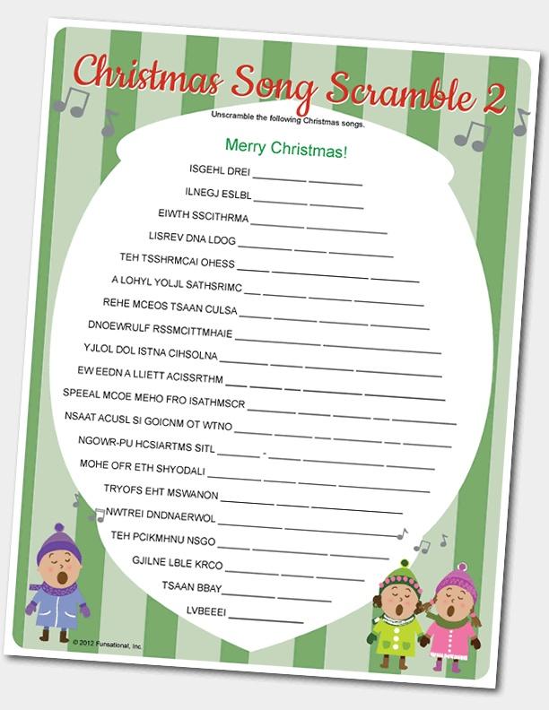 Christmas Song Scramble | Christmas | Pinterest