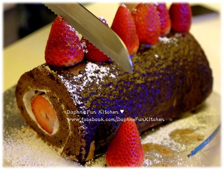 Baileys swiss roll daphne ho cake design cakes pint