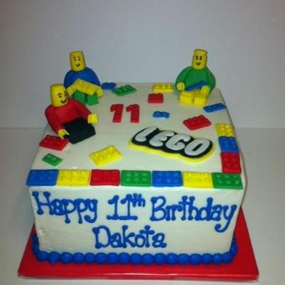 Lego cake. Buttercream with fondant legos and lego men.@Shonté ...