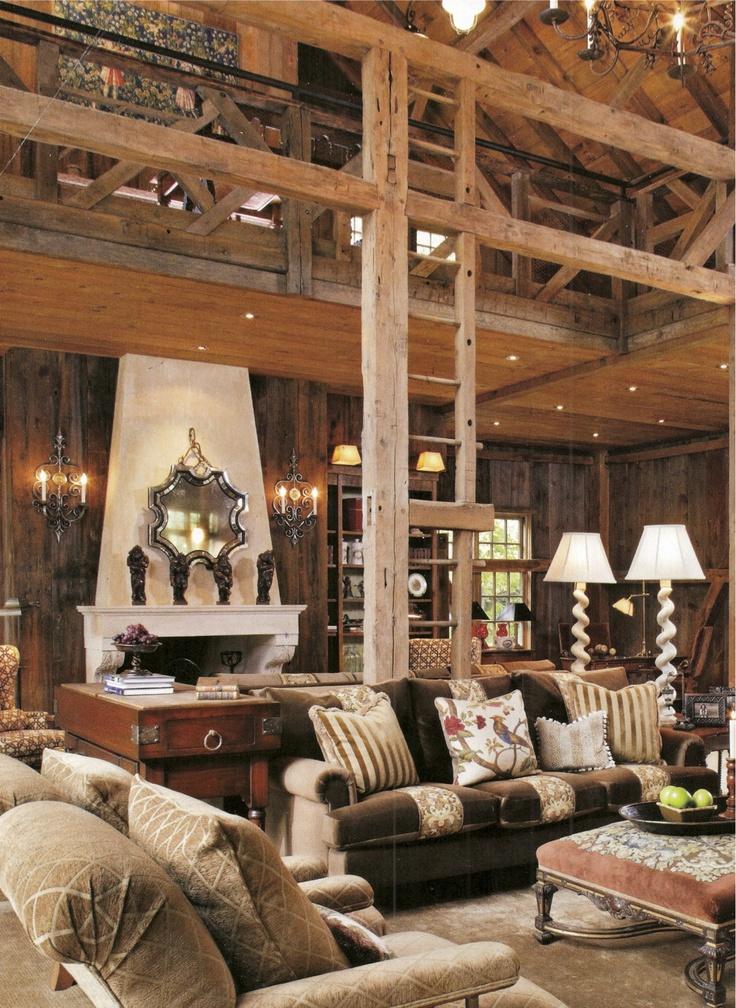 Barn Living Room Our Barn Home Pinterest