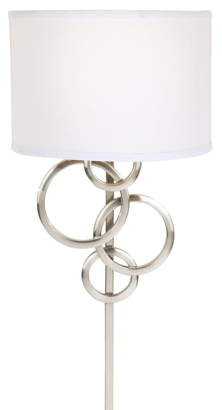 possini euro design circles plug in wall sconce 99 lamps plus. Black Bedroom Furniture Sets. Home Design Ideas