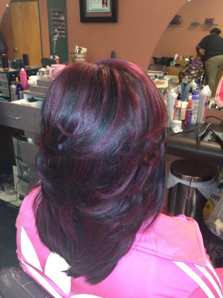 LAYERED QUICK WEAVE Hairstyles Pinterest