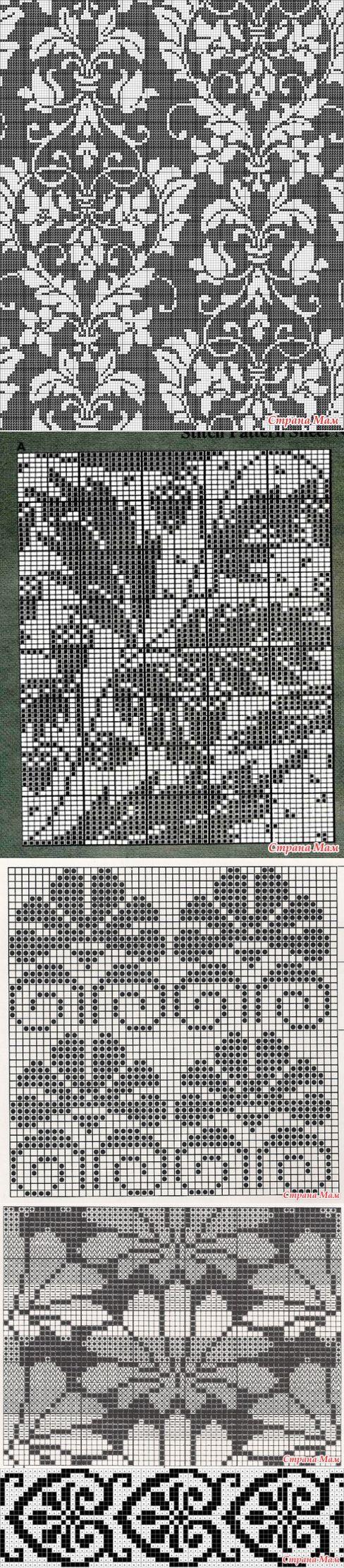 Вязание растительный узор 9