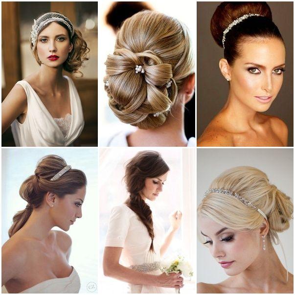 Peinados para novias con pelo largo recogidos penteados - Peinados de novia con flequillo ...