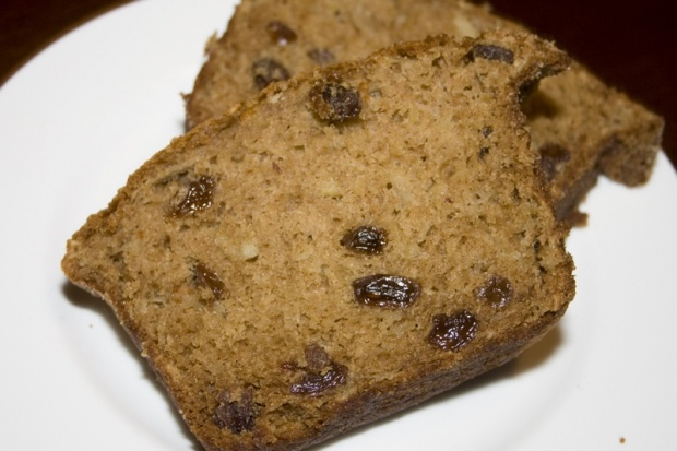 Apple Raisin Breakfast Bread...minus the raisins for me...yum.