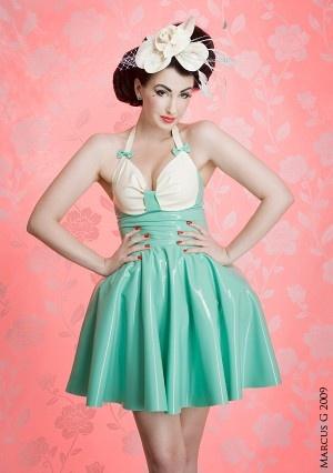 Party dress latex fashion quot eye quot design pinterest